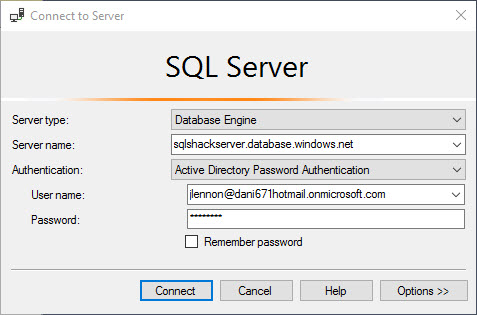 Working with Azure Active Directory and Azure SQL Database