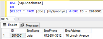 How to simplify SQL Server Database Object usage with Synonyms