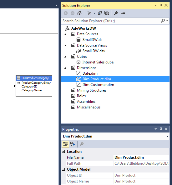 Analysis Services (SSAS) Cubes - Dimension Attributes and