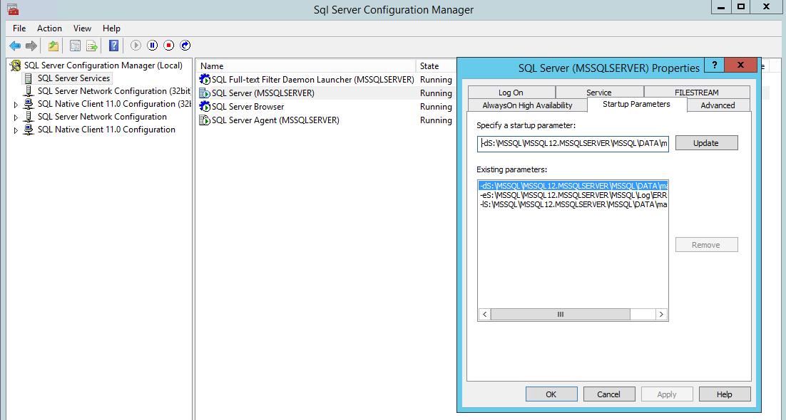 SQL Server system databases – the master database