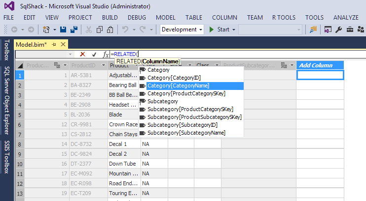 Analysis Services (SSAS) Tabular Models - Attributes and Measures