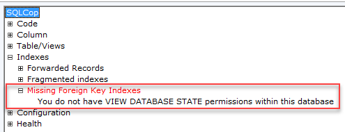 SQL unit testing with SQL cop - permissions error