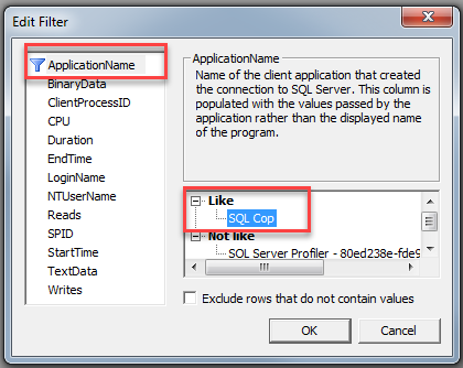 SQL unit testing with SQL cop - SQL profiler