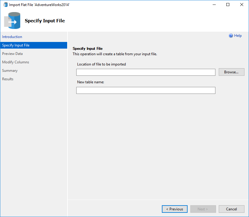 How to import a flat file into a SQL Server database using