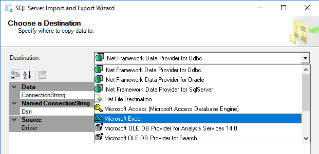 how to import data from access to sql server