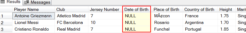 NULL values in the output of convert functions