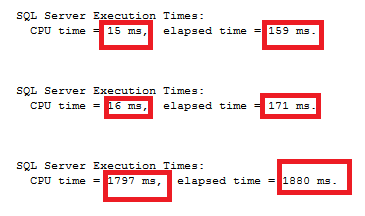 Execution time and SQL Server Data type