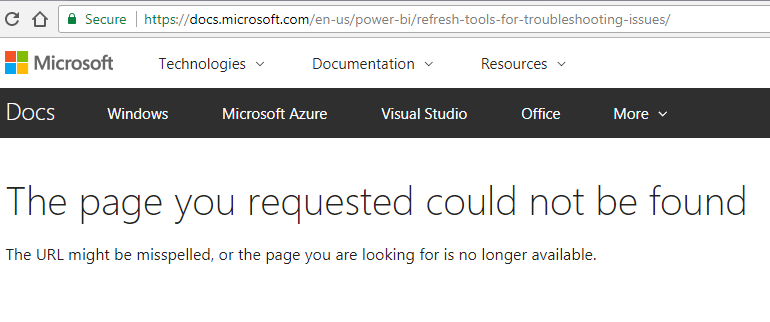 How to manage Power BI dataset refresh failures