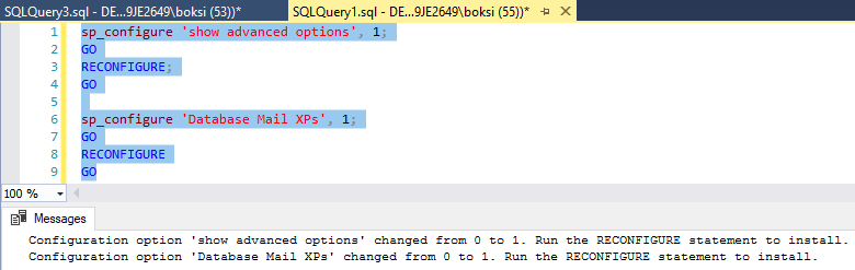 Successfully executed script for changing show advanced options default value from 0 to 1