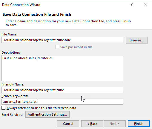 How To Create Excel Reports Based On Ssas Information