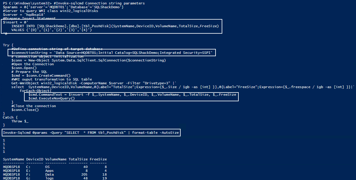 6 methods to write PowerShell output to a SQL Server table