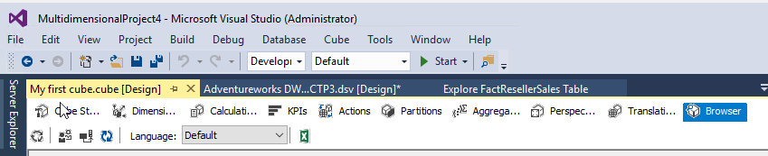 How to build a cube from scratch using SQL Server Analysis Services