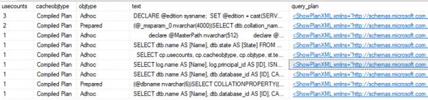 Understanding SQL Server query plan cache