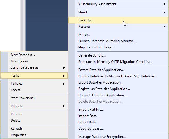 A walk through the SQL Server 2016 full database backup