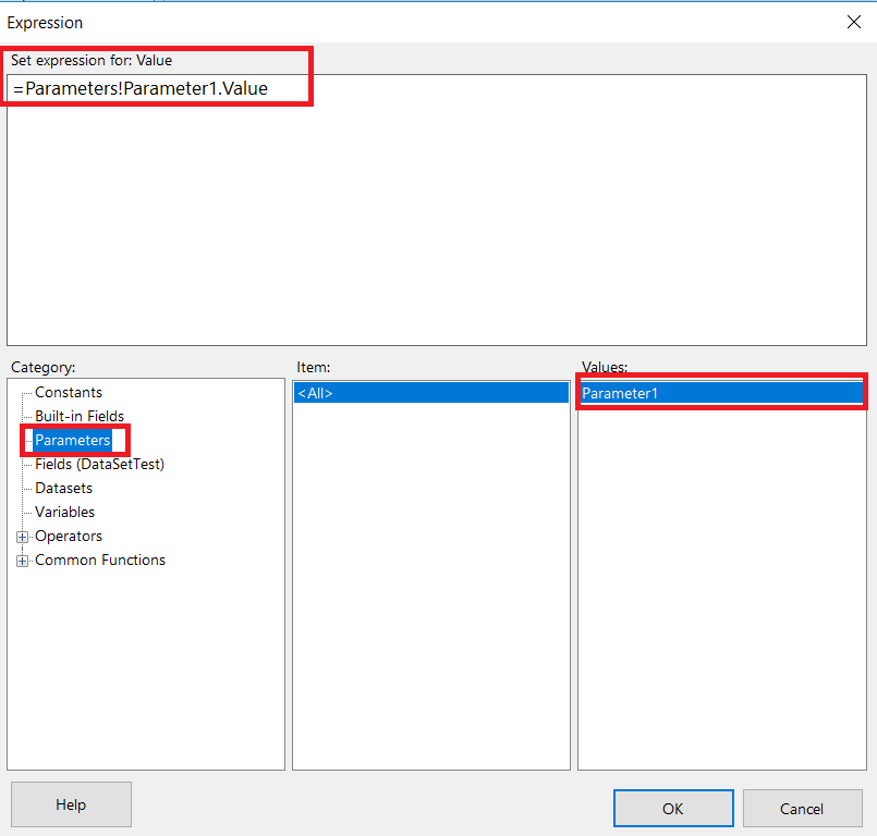Validating input parameters in sql server 2019 reporting services