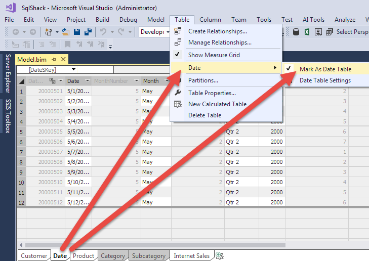 Time Intelligence in Analysis Services (SSAS) Tabular Models