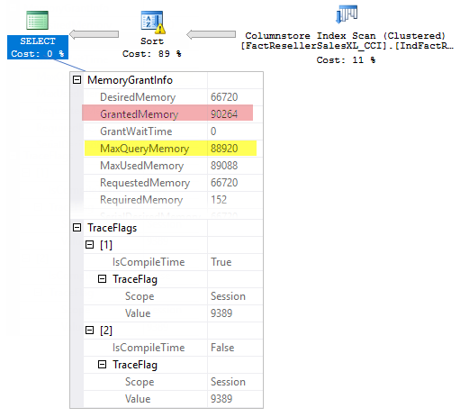 Max Query Memory property