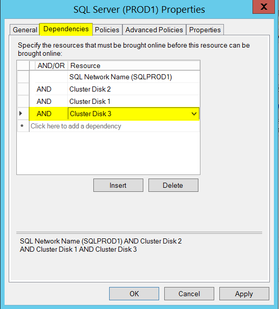 How to add a new disk to an existing SQL Server failover