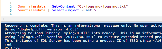 Reading file data with PowerShell