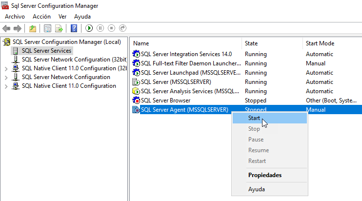 FAQ and examples about the SQL Server Agent
