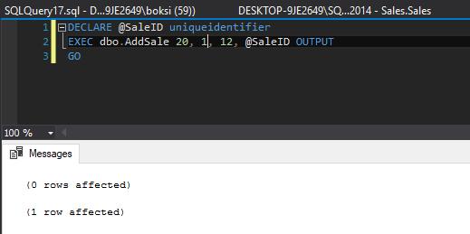 How to implement error handling in SQL Server