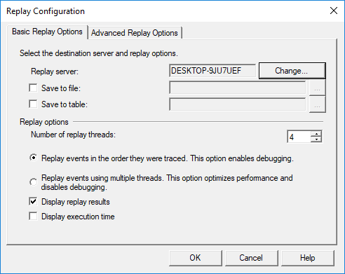 Basic Reply Options tab in the Reply Configuration window