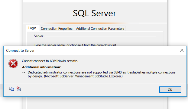SQL Server Dedicated Admin Connection (DAC) – how to enable