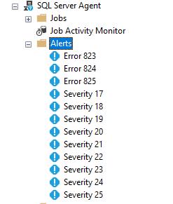SQL Server Setup – Database Alerts