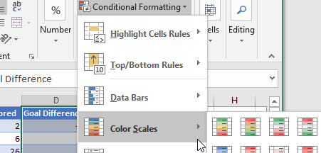 Available options for generating heatmaps in an SSRS report