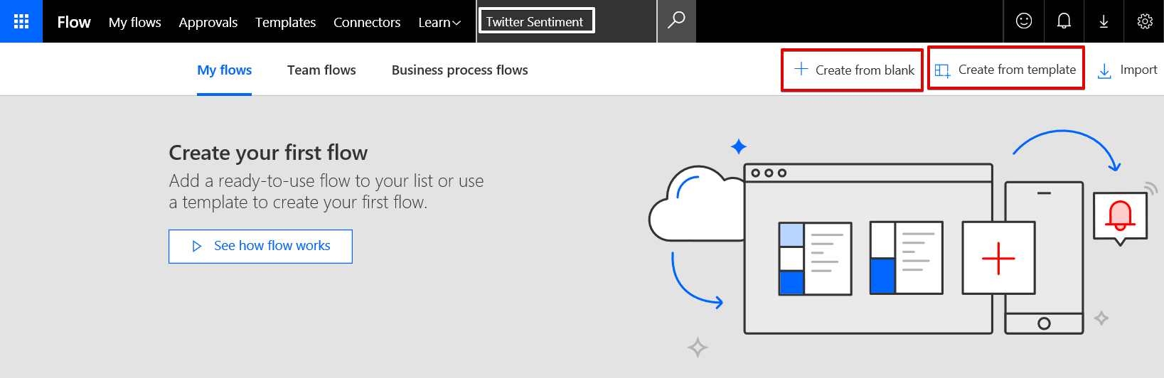 Text Analytics with Microsoft Flow