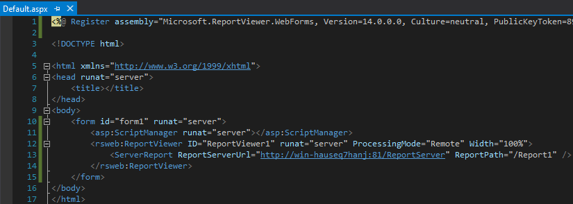 How to embed a Power BI Report Server report into an ASP Net