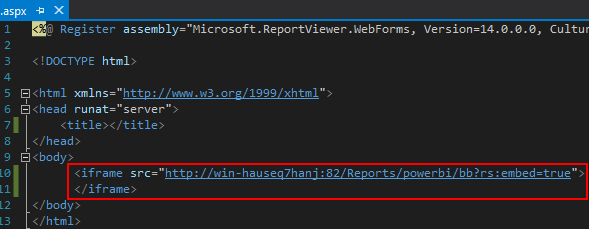 How to embed a Power BI Report Server report into an ASP Net web
