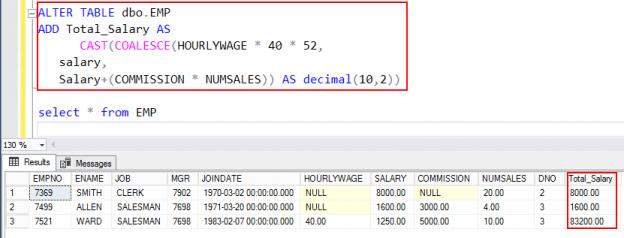 Using the SQL Coalesce function in SQL Server