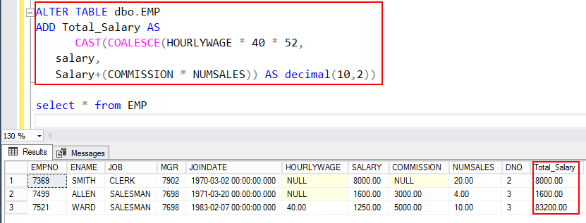 Using the SQL Coalesce function in SQL Server
