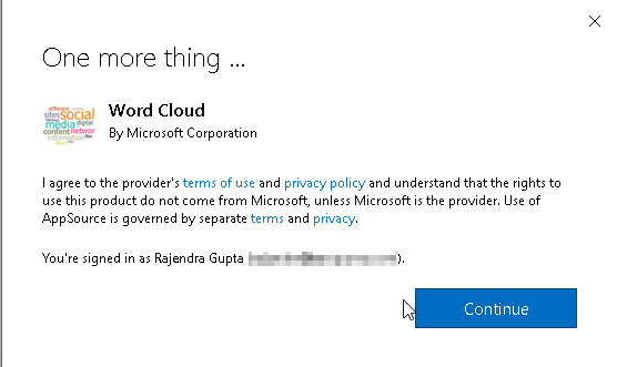 Accept terms and conditions to download Word Cloud