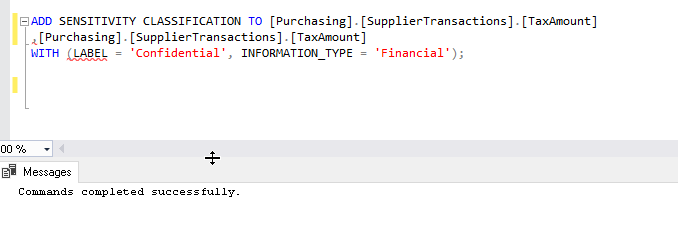 'ADD SENSITIVITY CLASSIFICATION' in SQL Server 2019