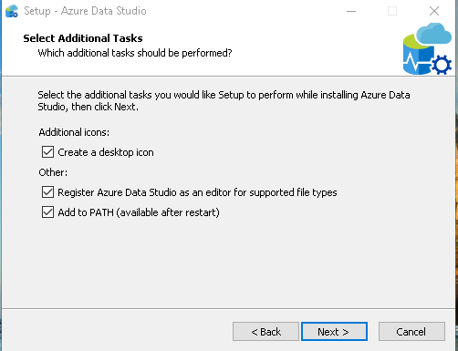 Azure Data Studio register Azure Data Studio as an editor