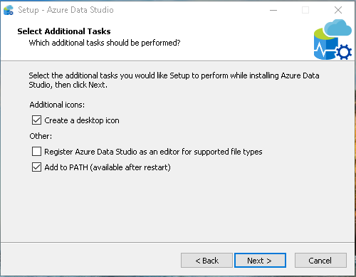 Azure Data Studio Wizard additional tasks
