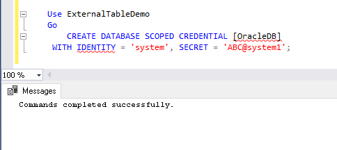 create a database-scoped credential