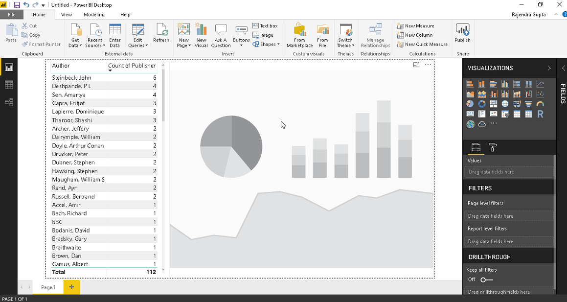 Create Word Cloud in Power BI Desktop