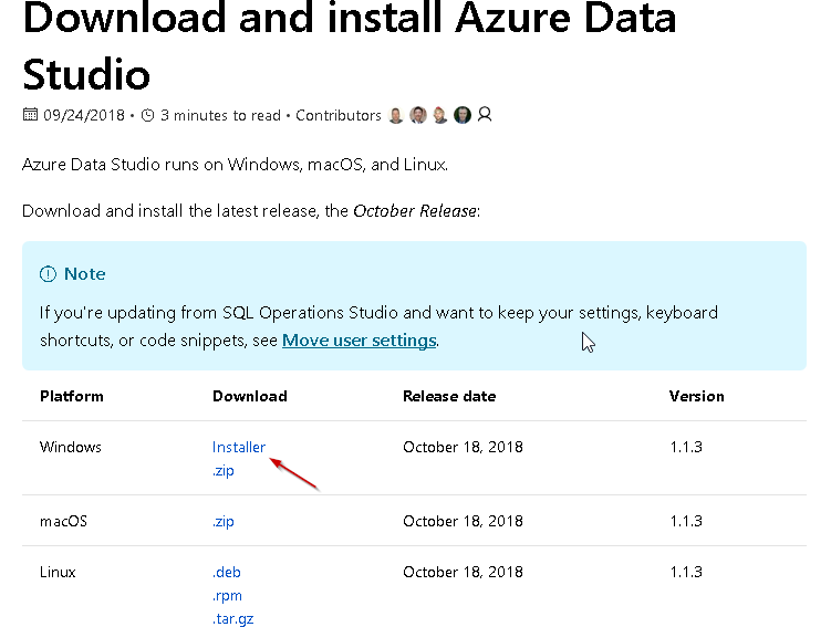 Download and install Azure Data Studio