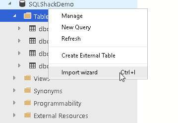 Import Wizard in Azure Data Studio