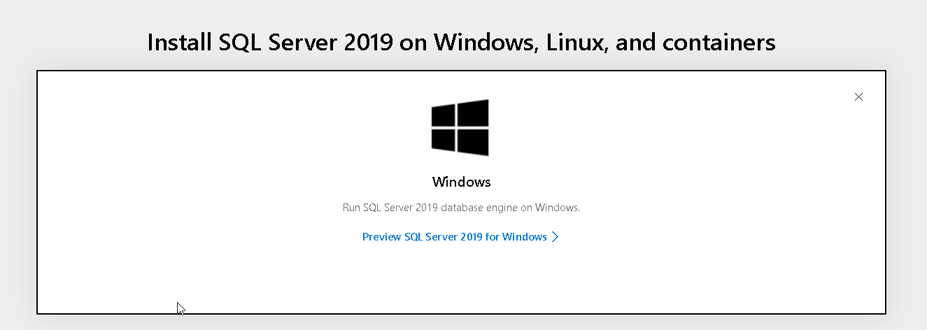 Install SQL Server 2019 on WIndows system