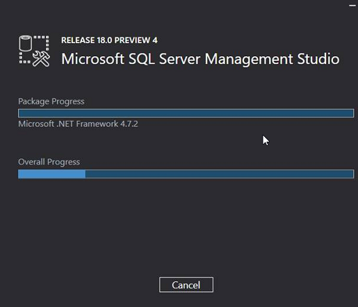 Install SSMS 18.0 Preview 4