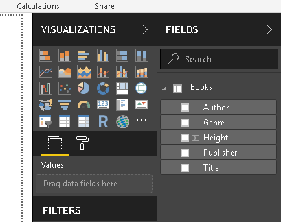 View the data set in Power BI Desktop