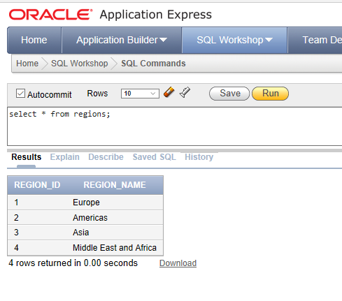 view the records in Oracle DB