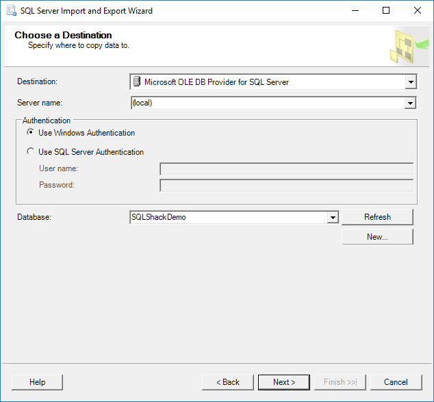 How to copy tables from one database to another in SQL Server