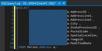 Manage SQL code formatting using SQL formatter options