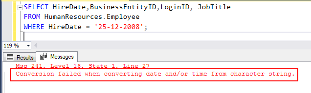 SQL date format Overview