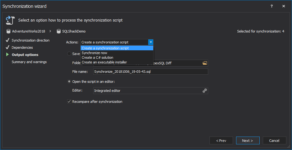 how to create table from another database in sql server